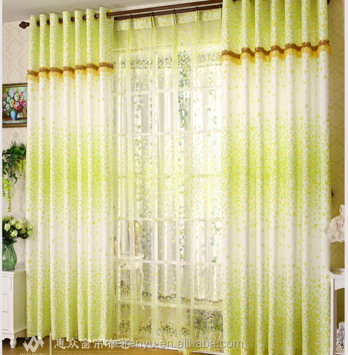 Cheap floral printed bedroom curtain custom 2015 simple for Simple design of window