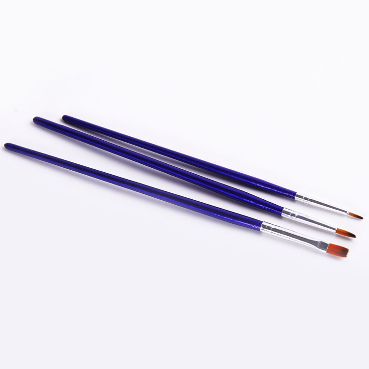 3pcs nylon watercolor paint brushes wholesale painting art brush set