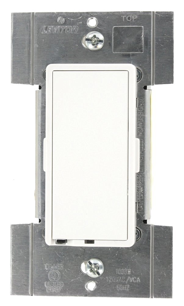 White 1000W Light Almond Pass /& Seymour Dimmer Single Pole 3 way Ivory