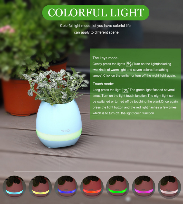 Magic Music Flower Pot Bluetooth Speaker Mini Speaker