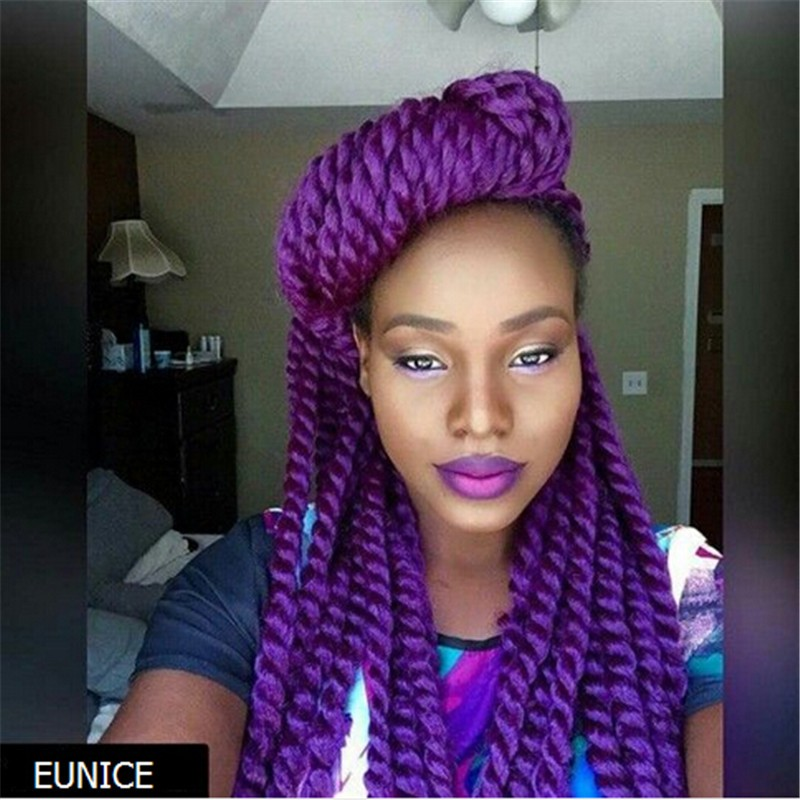 Eunice Hot Selling Purple Color Synthetic Extension Hair Havana ...