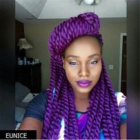 Eunice Purple Color Havana Twist Crochet Braids With Synthetic ...