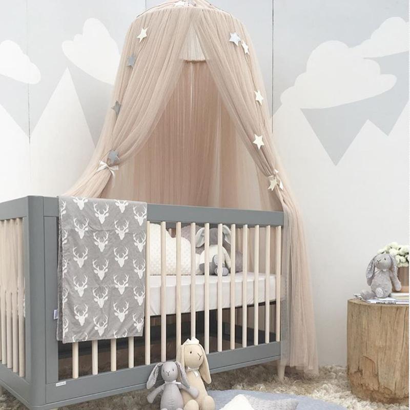 Baby Kinderbett Moskitonetz Dome Vorhang Für Kleinkind Kinderbett  Kinderbett Baldachin