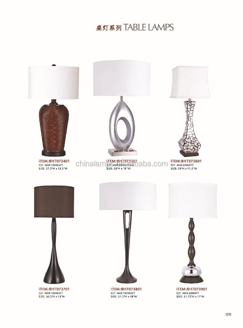 Power Outlet On Base Usa Modern Resin Poly Bedside Lamp