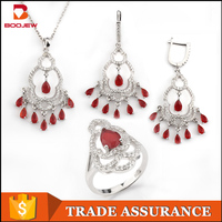Fashionable online store wholesale unique costume jewellery set bangkok 925 sterling silver jewellery