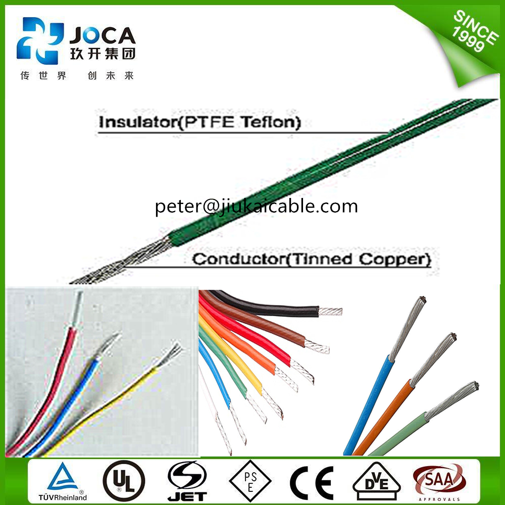 Awg28 Insulated Wire Ptfe / Pfa/fep Electrical Leading Wire - Buy ...