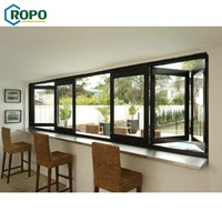 10 Year Warranty Australia Standard Glass Aluminum Profile Folding Bi-Folding Window