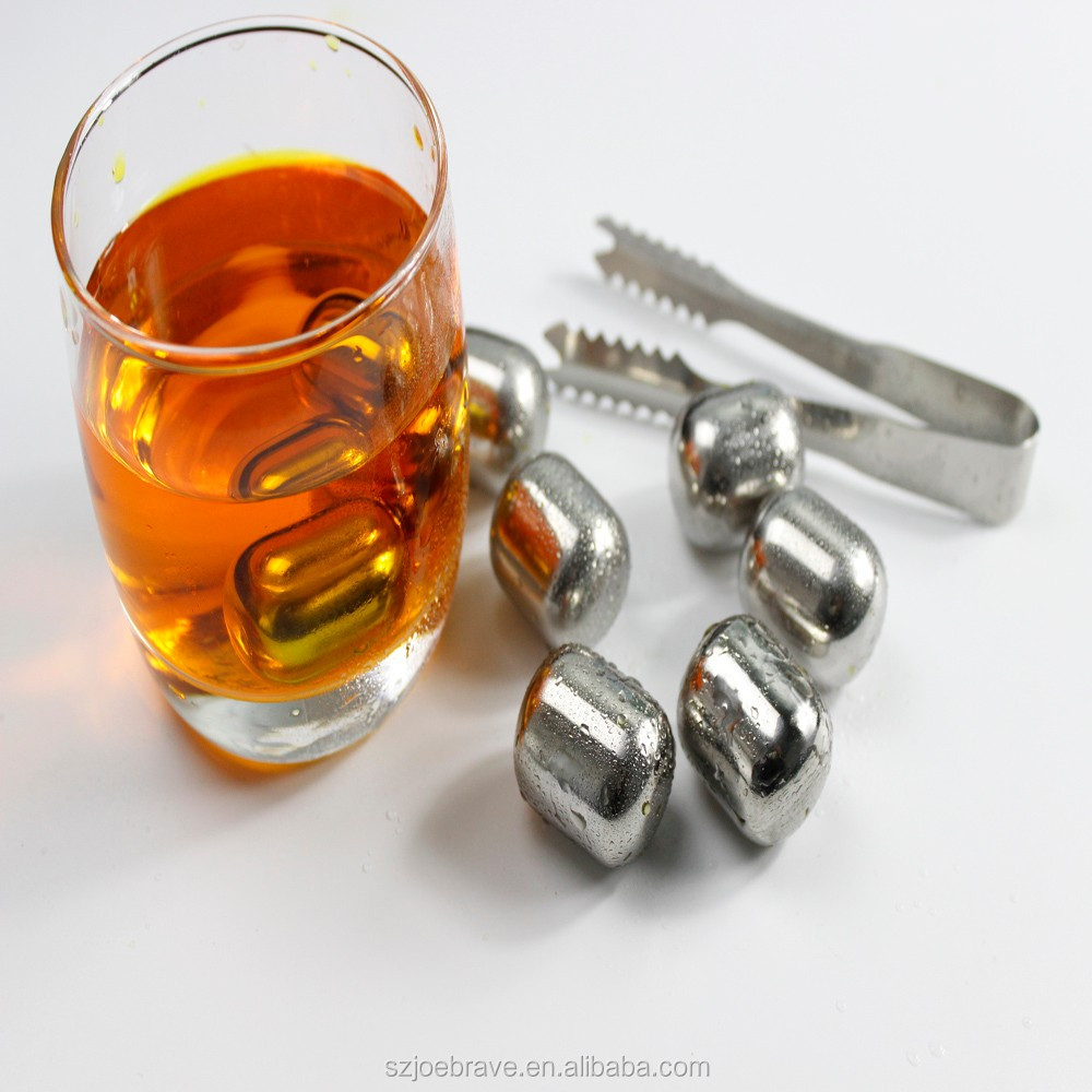 Stainless Steel Stones Cooler Whisky Stones / Cooler Rocks / Whiskey ices