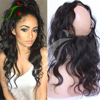 New Arrival Wet and Wavy Lace Band Full Frontal Brazilian Virgin Human Hair 360 Lace Frontal Closure with Baby Hair
