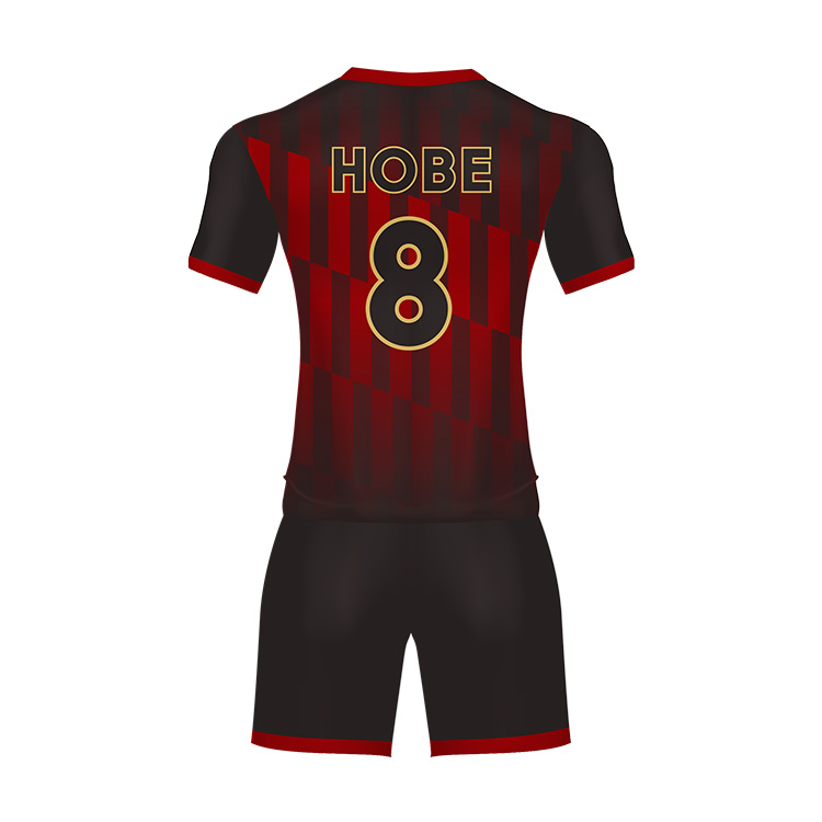 100 Polyester Sublimation Soccer Jersey Black And Red Kids Football Uniform Custom Made Football Jersey Design Buy Football Jersey Design Custom Made Football Jerseys Kids Football Uniform Product On Alibaba Com