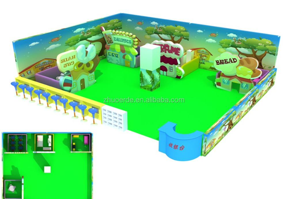 2016 green indoor playground inflatable on sale