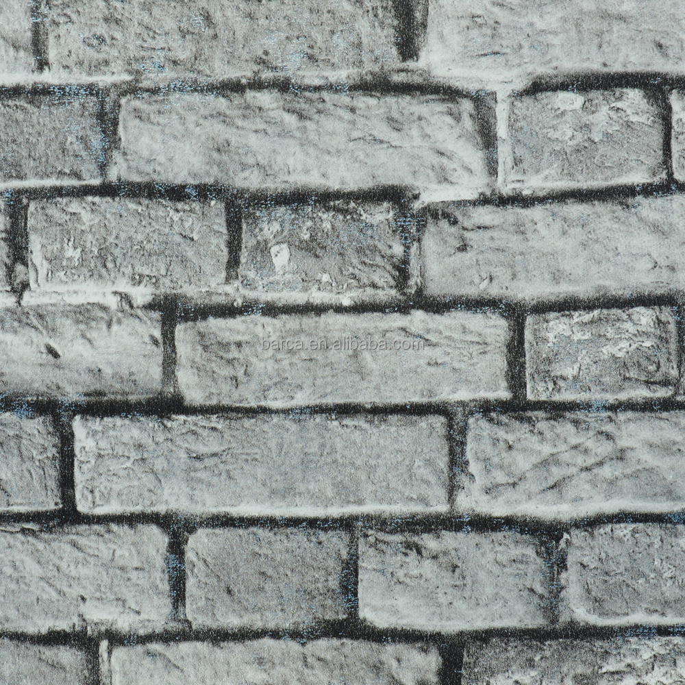 Gray Brick Design Wallpaper 3d Brick Wallpaper For Sitting