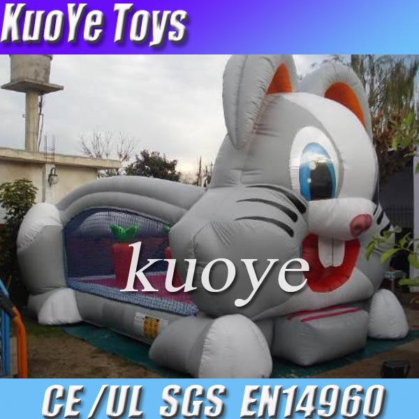 new inflatable rabbit castle,jumping bouncer with repair kits,playland games inflatable china