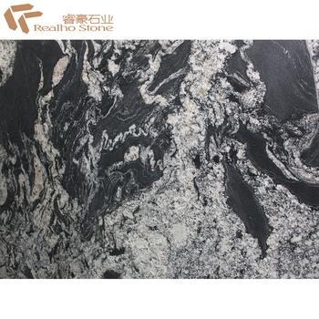 Thunder Black Granite With White Veins