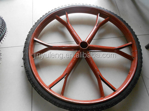 26inch farm trailer wheels , 500kg load capacity, construction steady wheels