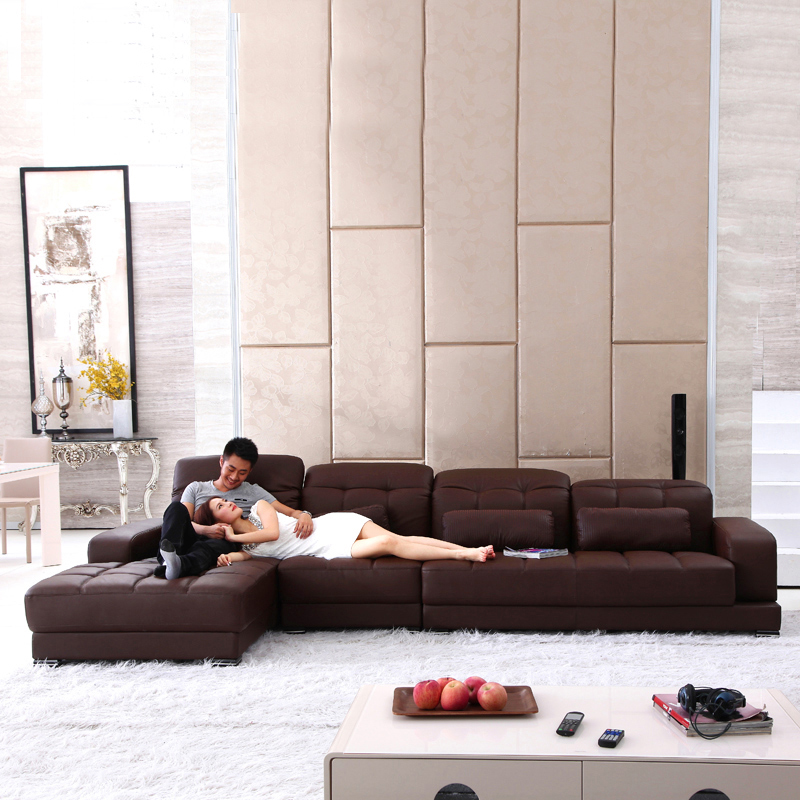 Luxury European Style Living room multi-functional storage leather <strong>sofa</strong>