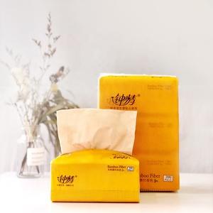 Custom Logo Printed Soft pocket Pack Facial Tissue Paper plastic bags Super Soft High Quality Lamego Facial Paper Tissue