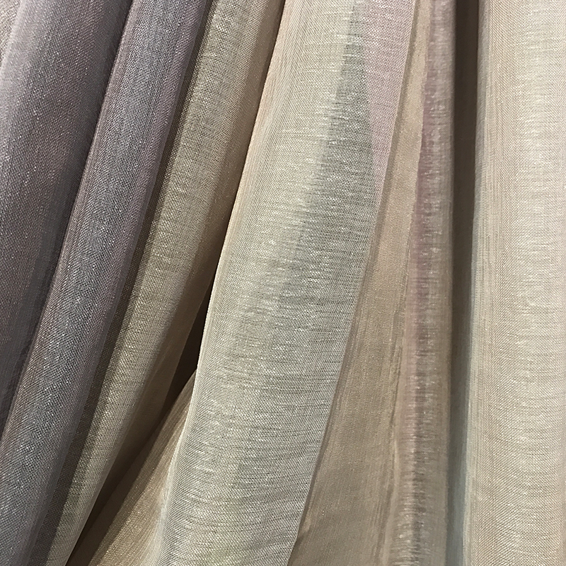 dolly sheer linen look sheer curtain <strong>fabric</strong>