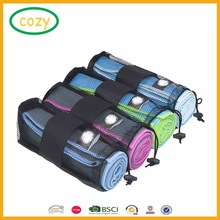 2017 Fashion Design Ultra absorbent personalized Camping Travel Sports Gym Cloth Microfibre Towel With Mesh Bag