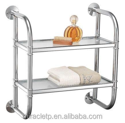2 tier bathroom accessories display rack