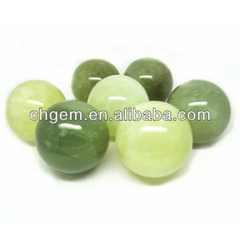 Charming Beautiful Light Green Semi Precious Stone Sphere Home Design Ideas