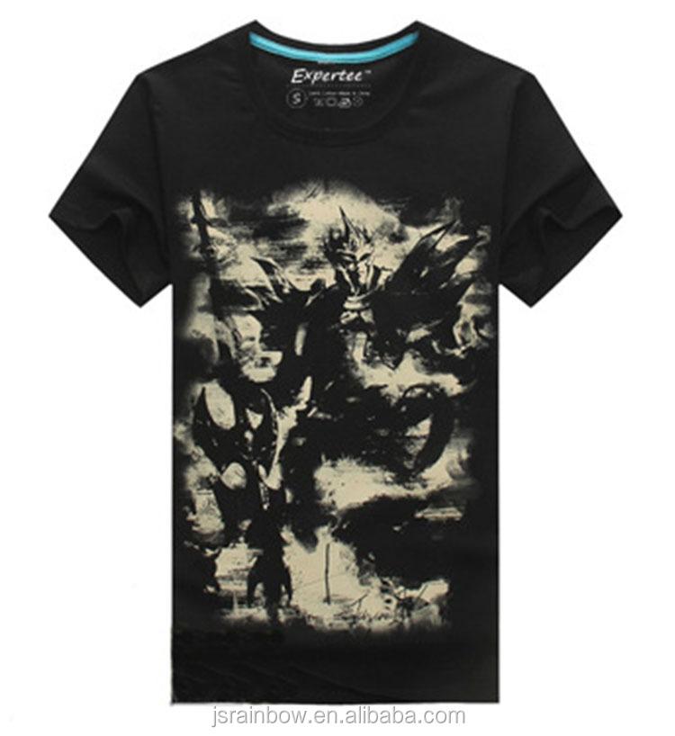 100 cotton game characters 3d digital print men t shirt for Custom t shirt digital printing