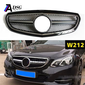 gloss black front grill for mercedes e class w212 facelift. Black Bedroom Furniture Sets. Home Design Ideas