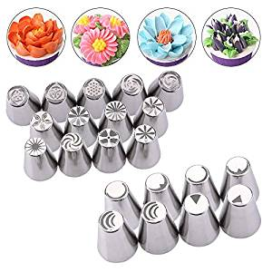 21 Pcs/Set Russian Tulip Nozzle Perfect For Cake Cupcake Decorating Icing Piping Nozzles Russian Rose Nozzles