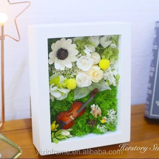 White And Black Flower Cheap Ps Shadow Box 12x12 3d Box Frames Whole ...
