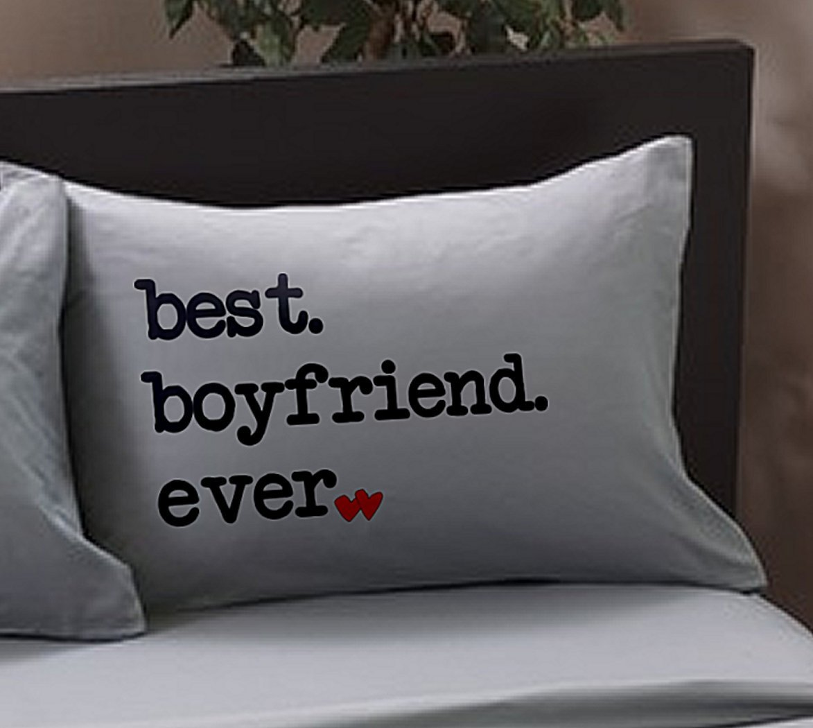 best boyfriend ever pillowcase standard charcoal valentine anniversary for boyfriend from girlfriend gift idea