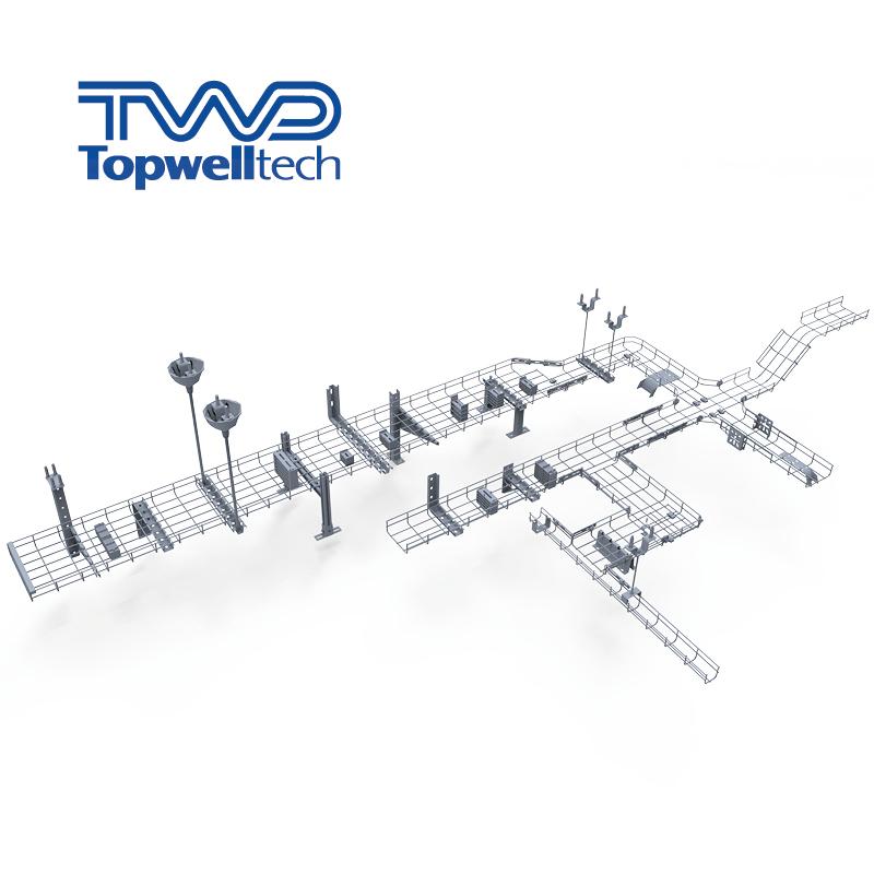 Удобный новый дизайн проволочная сетка кабельный лоток производитель проволочная корзина