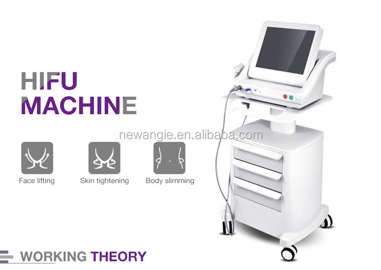 Beauty Salon Equipment 7 Transducers High Intensity Ultrasound Hifu For Face
