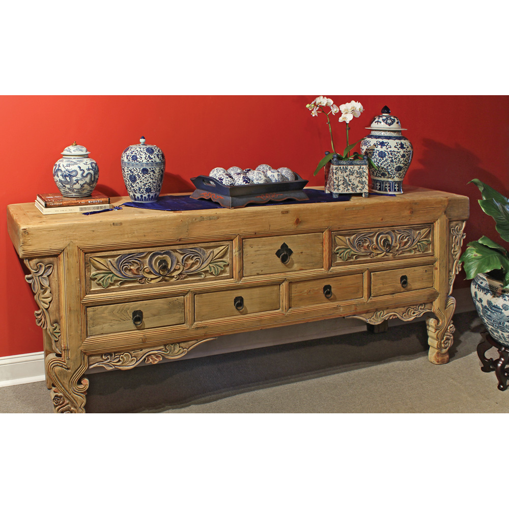 Living Room Console Cabinet Chinese Antique Reproduction Furniture ...