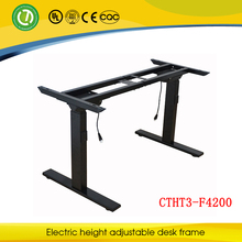 Modern Electric Height Adjustable Lifting Office Table Frame with Three Lifting Column for White Collar