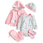 Import china newborn clothes 100% cotton romper baby clothing set