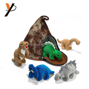 China factory customized stuffed plush animal set dinosaur toys