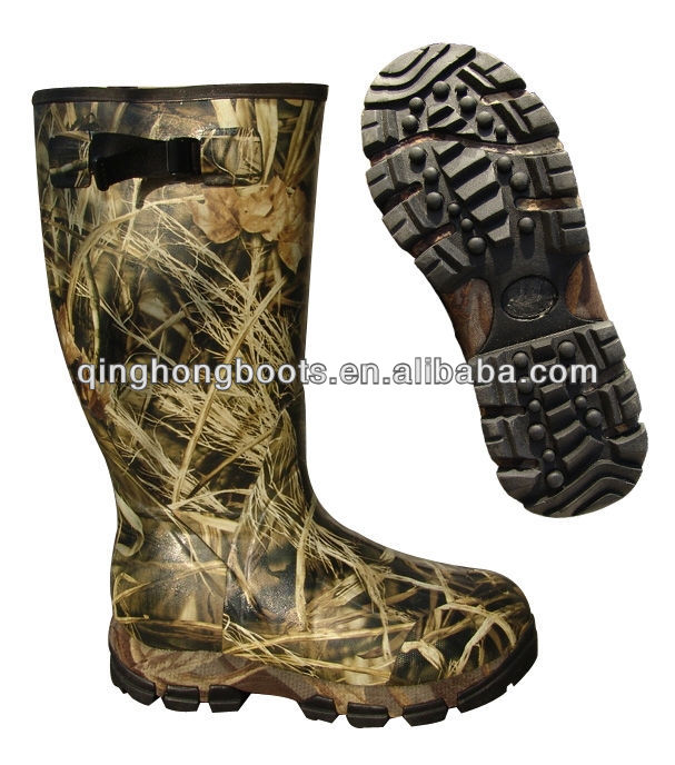 Camouflage Western Rubber Name Brand Rain Boots - Buy Camouflage ...