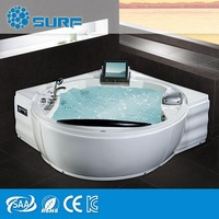 New Product 2017 USA Balboa System Whirlpool Acrylic Massage Bathtub With TV On Sale