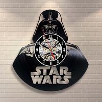 Retro Darth Vader Vinyl Record Wall Clock Personalised Art Wall Clock Home Decoration