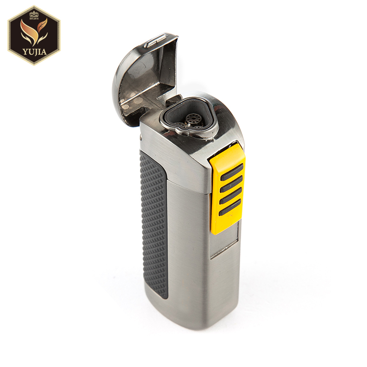 Guangzhou cohiba butane cigar lighter torch with cigar punch
