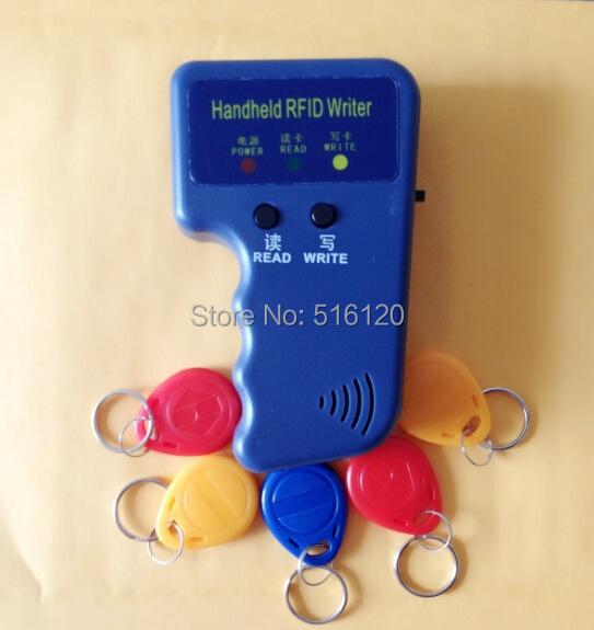 Ручной портативный 125 кГц rfid-считыватель писатель копир Duplicater + 5 шт. T5577 / EM4305 125 кГц rfid-тегов записи брелков