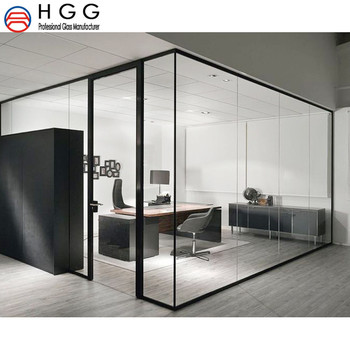 Office Soundproof Clear Unbreakable Tempered Glass Partition Interior Door Wall M2 Price Buy