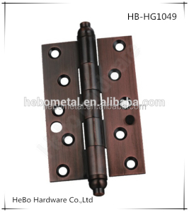 stainless steel single bolt burglar hinge with copper pagoda head