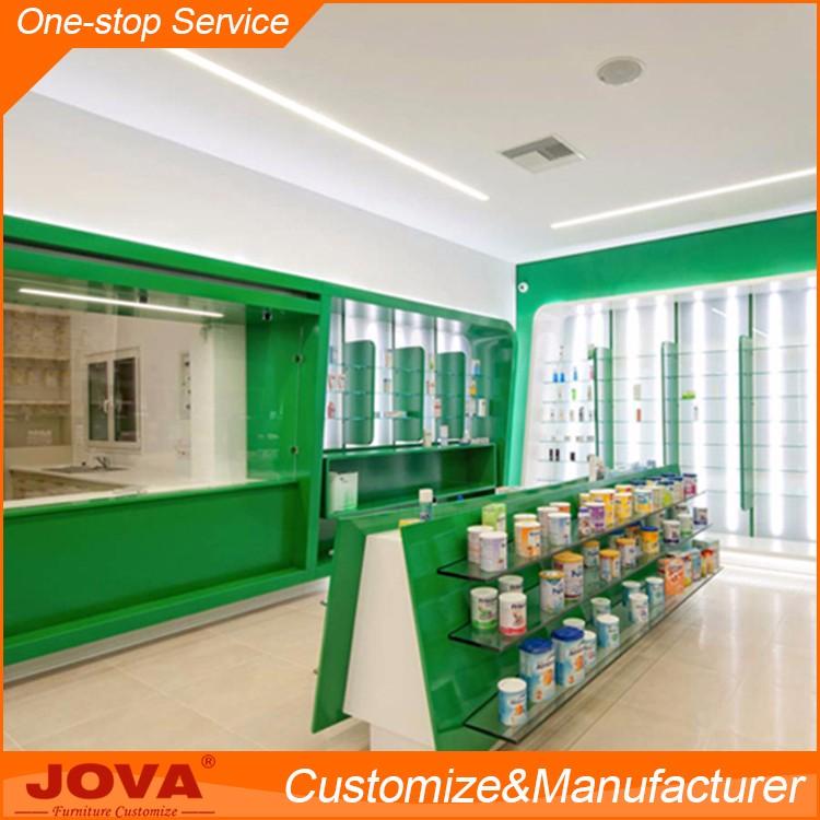 Retail Store Design Job Description: Custom Made Medical Store Furniture Pharmacy Interior