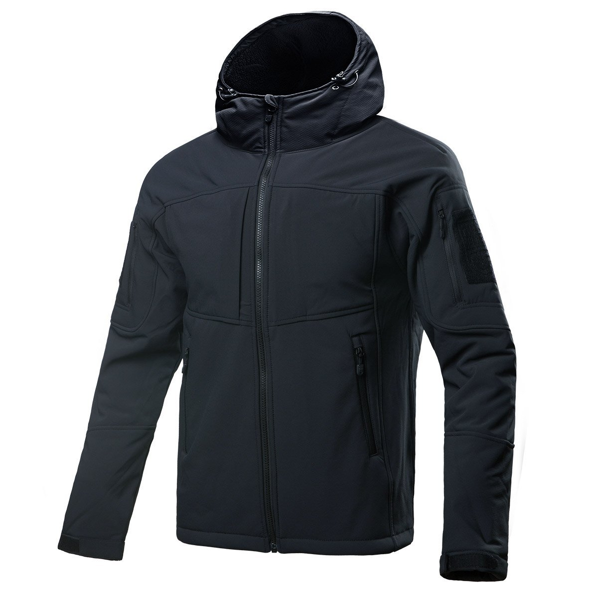 Water Resistance Winter Spring Jacket - FREE SODLIER Soft Shell Fleece Outwear Hooded Camping Coat Windproof Tactical Jacket