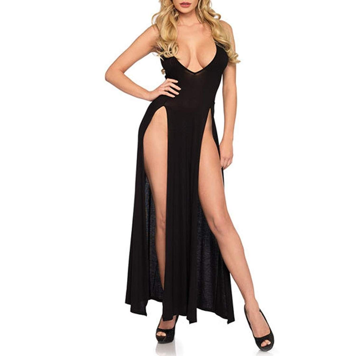0c6297d9b63 DongDong Clearance Sale! Lady Sexy Lingerie Plus Size Nightdress Long Skirt  Pajamas