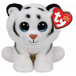 bebf6f9bde9 Get Quotations · Ty Inc Beanie Babies Tundra The White Tiger Plush Stuffed  Animal