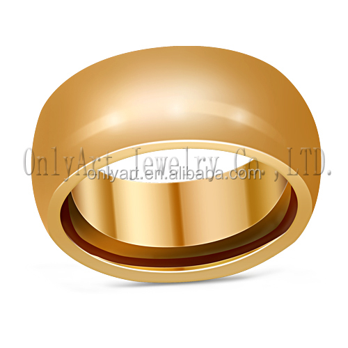 New model wedding ring domed pure gold ring