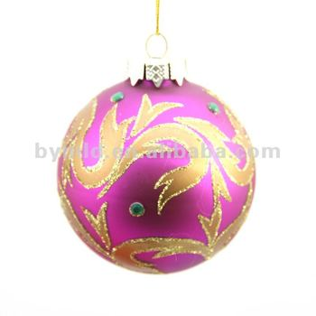 8cm Hand Painted Glass Christmas Ball Ornaments Buy Glass