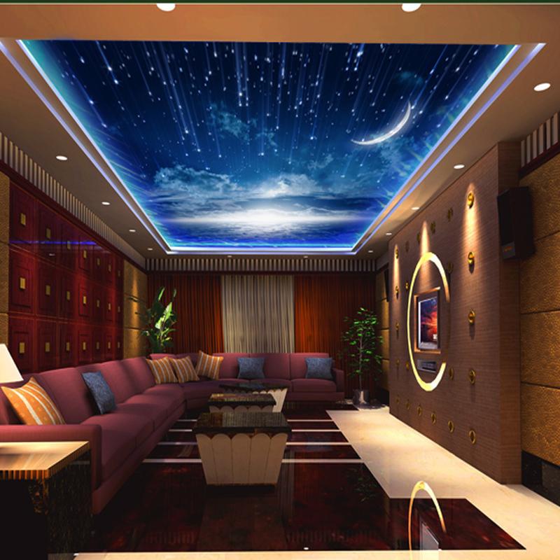 2014 verkauf echte kostenloserversand betten zimmer papel de parede tapeten gro e decke wandbild. Black Bedroom Furniture Sets. Home Design Ideas